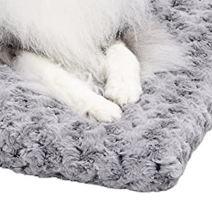 MidWest Homes for Pets Plush Pet Bed | Ombré Swirl Dog Bed & Cat Bed | Gray 23L x 17W x 1.75H -Inches for Small Dog Breeds