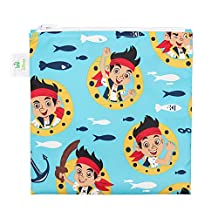 Disney Baby Jake and The Neverland Pirates Reusable Snack Bag Large Single From Bumkins, Jake Blue, Large