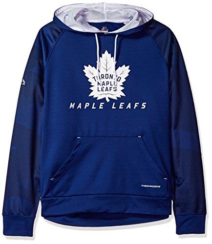 NHL Toronto Maple Leafs Men's Penalty Shot Long Sleeve Fleece Hoodie, XX-Large, Blue Cobalt/White
