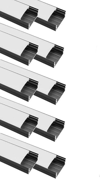 20 Pack LED Aluprofil Aluminium Profile Alu Profil U-form mit Alle zubehör 20×1m