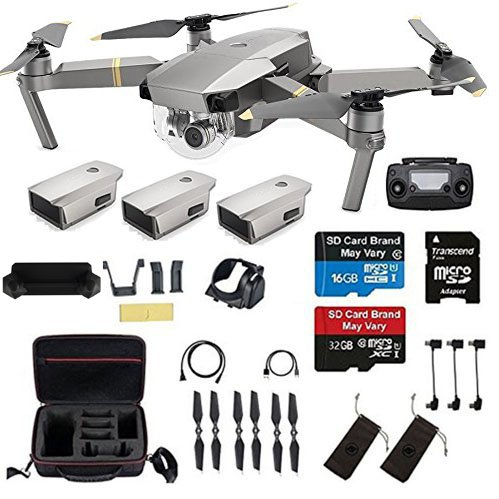 DJI Mavic Pro Platinum With 2 Extra Batteries, Professional Case and More