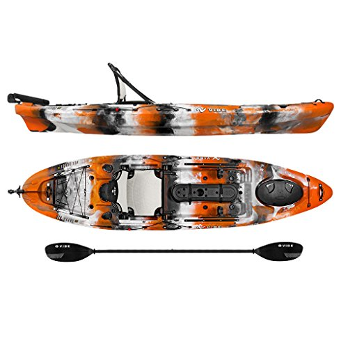Vibe Kayaks Sea Ghost 110 | 11ft Angler - Single Person, Sit On Top...
