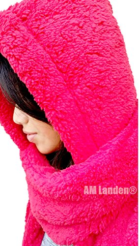 d67b3d910f8 AM Landen Ladies Wool Velvet Soft All In One Soft Hood Hats Scarf ...