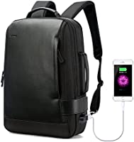 Bopai Business 15.6 inch Laptop Backpack Intelligent Increase Compartment Invisible Anti-Theft Laptop Rucksack USB Charging and Water Resistant College Travel Men Backpack, Black