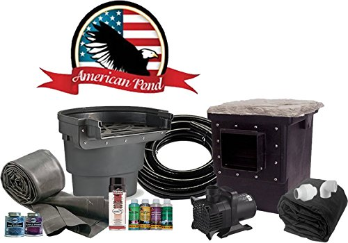 Pond American Kit (American Pond Large 11' x 11' Pond Kit Professional Series Energy Saving)