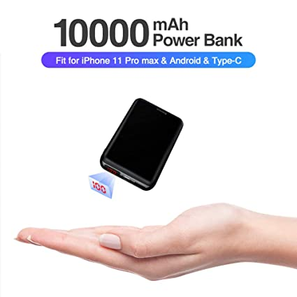 Amazon.com: Baseus Mini Power Bank, 10000mAh LED Display ...
