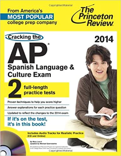 Amazon cracking the ap spanish language culture exam with amazon cracking the ap spanish language culture exam with audio cd 2014 edition college test preparation 9780804124287 princeton review books fandeluxe Image collections