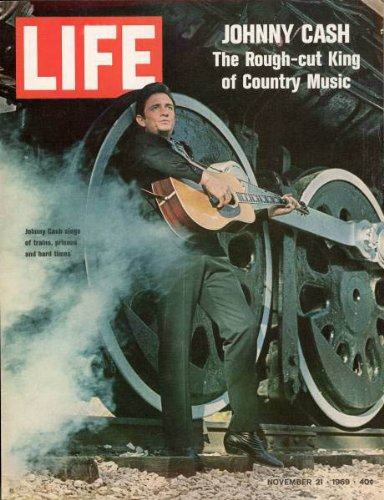 Photo of Cover Life Magazine Country Western Singer Johnny Cash