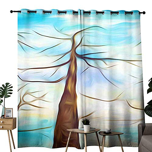 duommhome Durable Curtain Abstract Chaotic Painting Design Wallpaper 70%-80% Light Shading, 2 Panels,W120 x L96 Straight