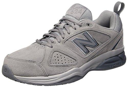 New Balance 624v4, Zapatillas Deportivas Para Interior Para Hombre, Gris (Gunmetal), 43 EU