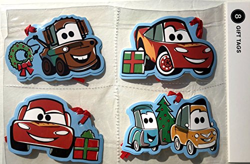 Disney Gift Tags - Disney Cars Christmas Gift Wrapping Tags 8 Count
