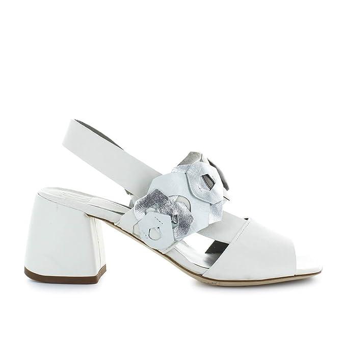 Scarpe da Donna Sandalo Bianco Decorazioni Ixos Primavera Estate 2018