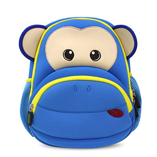 Kids Monkey Backpack 3D Cute Zoo Cartoon School Boys Girls Bags