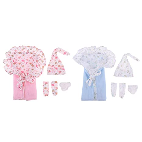 F Fityle 2 Kit de Saco de Dormir con Mini Ropa de Vestir para Muñeca Bebé