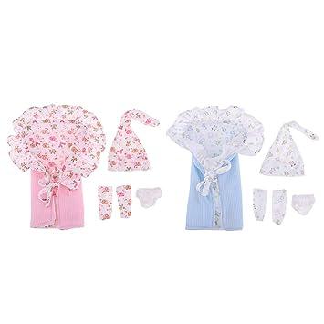 Amazon.es: F Fityle 2 Kit de Saco de Dormir con Mini Ropa de Vestir para Muñeca Bebé 26-28cm: Juguetes y juegos