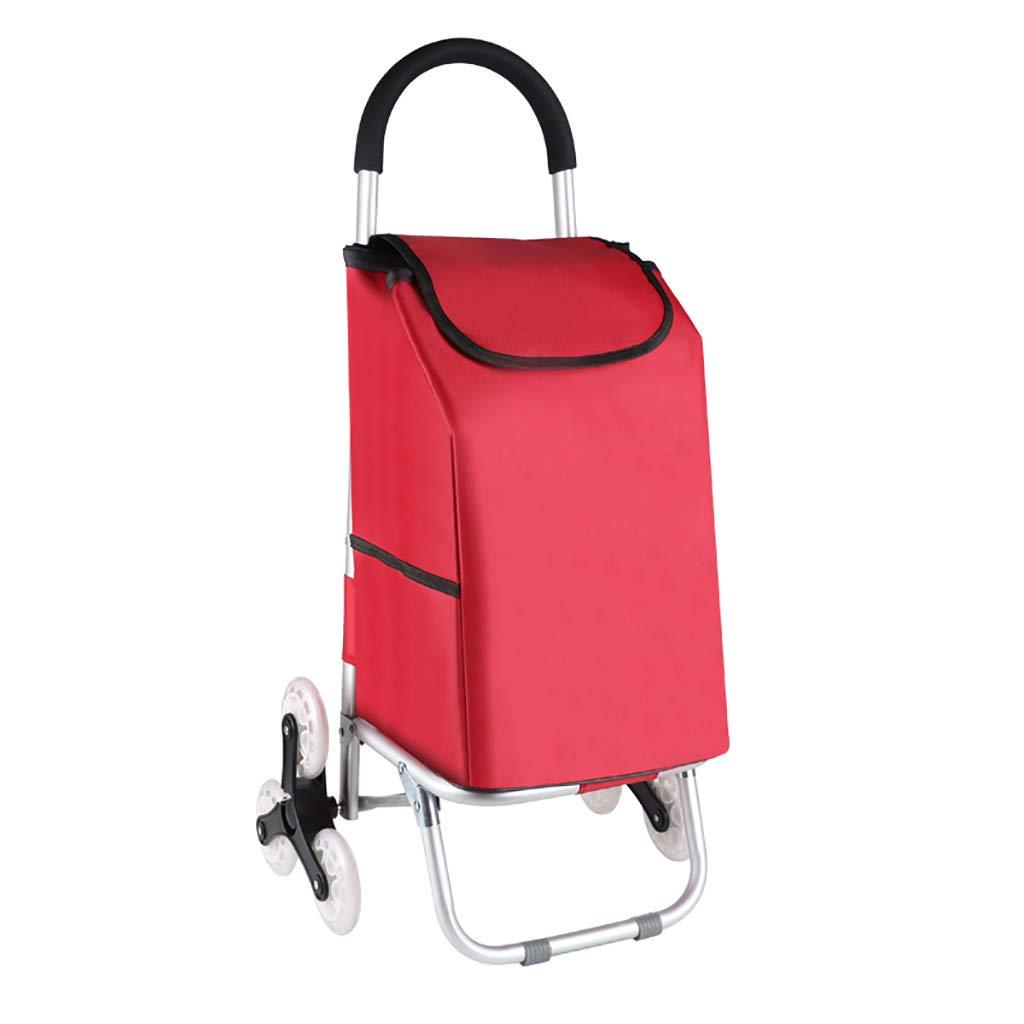 折りたたみ階段登りショッピングカートポータブル旅行トレーラー家庭用荷物カートショッピングトロリー (色 : B)  B B07PJXFL6Q