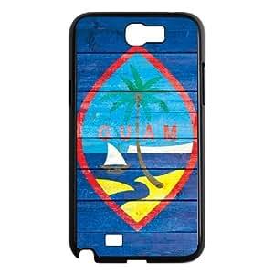 Samsung Galaxy N2 7100 Cell Phone Case Black Guam Flag Light Wood SP4131913