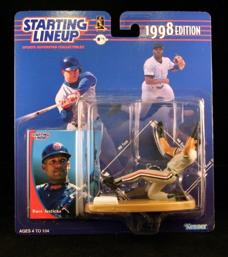 Cleveland Indians Star - Dave Justice Action Figure of the Cleveland Indians - 1992 Edition Starting Lineup Sports Superstar Collectible