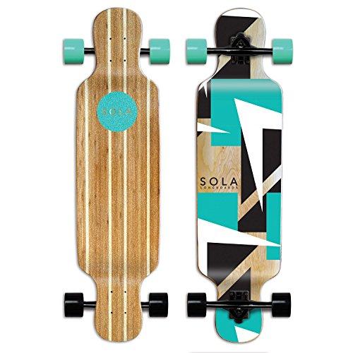 Sola Bamboo Premium graphic design Complete longboard Skateboard - 36 to 38 inch (FUTURE) Bamboo Complete Longboard Skateboard