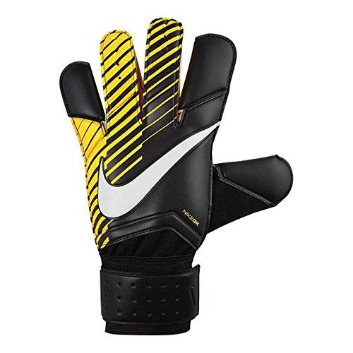 Nike GK Grip 3 Soccer Goalkeeper Gloves (Sz. 10) Black, Laser Orange
