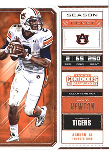 Tigers Football Tickets (2018 Panini Contenders Draft Picks Season Ticket #15 Cam Newton Auburn Tigers Football Card)