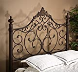 Hillsdale Baremore Wrought Iron Style Headboard, King with Bed Frame