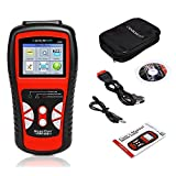 COOCHEER Car OBD II EOBD CAN Scanner Auto OBD2 Scan Tool with Color Screen Vehicle Diagnostic...