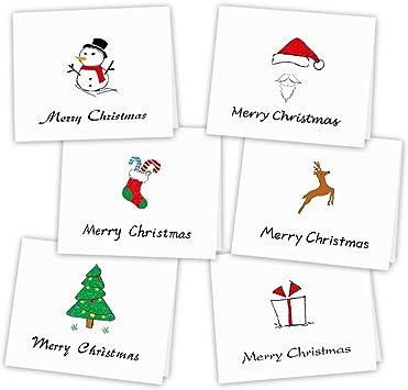 Adesivi Buon Natale.Kuuqa 36 Pezzi Buon Natale Cartoline D Auguri Cartoline D Estate Con Buste E Adesivi 4 72 X 7 87 Pollici Amazon It Giochi E Giocattoli