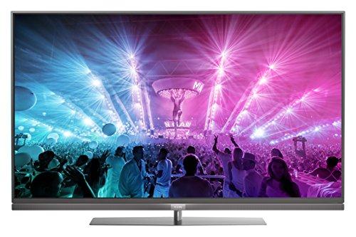 Philips 55PUS7181/12 139,7 cm (55 Zoll) Ultraflacher Android 4K-Fernseher mit 3-seitigem Ambilight und PixelPrecise Ultra HD dunkelsilber