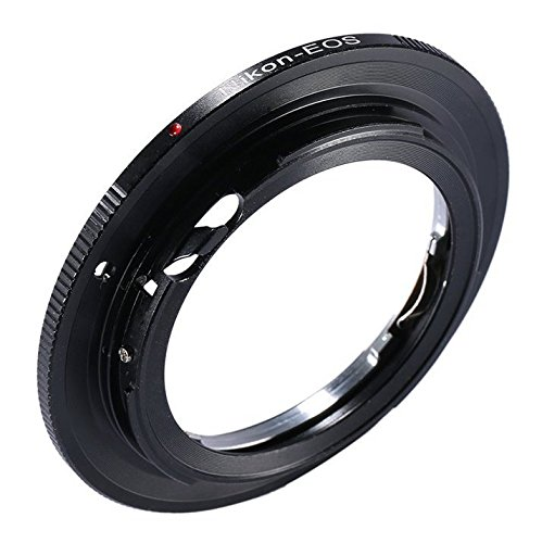 Adapter To Convert Nikon F-Mount Lens to Canon EOS, EF, EF-S Mount For Canon EOS Rebel T6s, T6i, SL1, T5, T5i, T4i, T3, T3i, T2i, 80D, 70D, 60D, 60Da, 50D, 40D, 7D, 5D, 5DS R, 1D Digital SLR Camera by HDStars