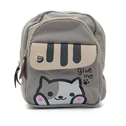 Price comparison product image Happy Trees Cute Cat School Backpack Single Daypack Shoulders Bag Knapsack for Girls
