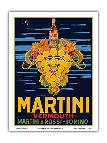 Martini & Rossi Vermouth - Turin (Torino) Italy - Vintage Advertising Poster by San Marco c.1950 - Master Art Print 9in x 12in ()