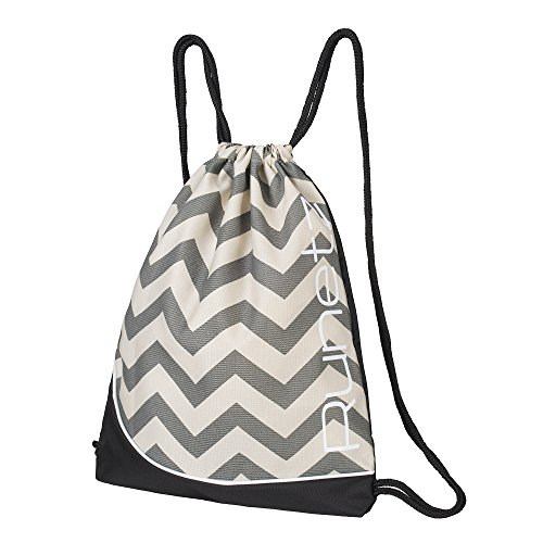 Cheap Runetz – Chevron Gray Gym Sack Bag Drawstring Backpack Sport Bag for Men & Women Sackpack – Chevron Grey