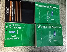2008 ford edge lincoln mkx service shop manual set w ewd & pced 4 books  huge oem paperback – 2008