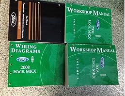2008 ford edge lincoln mkx service shop manual set w ewd \u0026 pced 4 2008 Ford Edge Motor