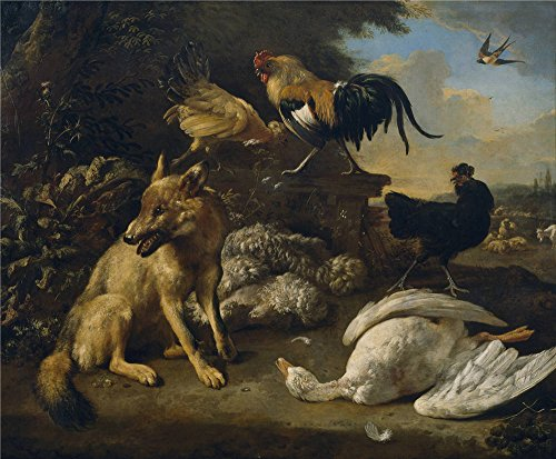 the-high-quality-polyster-canvas-of-oil-painting-hondecoeter-melchior-d-bodegon-con-animales-1680-90