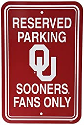 NCAA Oklahoma Sooners 12-by-18 inch Plastic Parking Sign