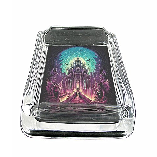 Coin Glass Ashtray - Gargoyle Castle Demon Dark Em1 Glass Ashtray Smoking/Coin Holder 4