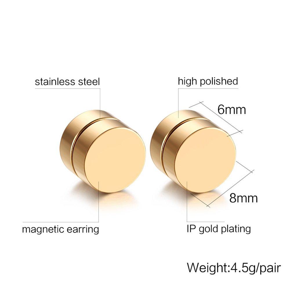ef0e9ae4c2e0 Homyl 2 Pares Aretes Magnéticos Sin Perforación Accesorios de Moda Unisex   Amazon.es  Joyería