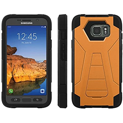 AT&T [Galaxy S7 Active] ShockProof Case [ArmorXtreme] [Black/Black] Hybrid Defender [Kickstand] - [Tangerine] for Samsung Galaxy [S7 Active] Sales