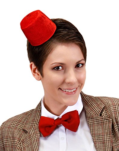 elope Doctor Who Mini Fez & Bowtie Costume Kit (Red Fez Hat)