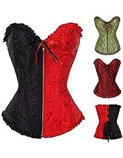 TOPSPEED Dameskorset, top, gothic, satijn, tailleriem, figuurvormend, ondergoed, tailletrainer, bustier, bodyshaper