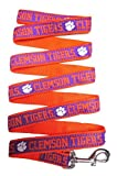 Pets First Clemson Tigers Nylon Collar and Matching Nylon Leash for Pets
