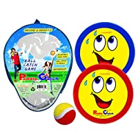Funsparks Paddle Catch Game a Ball Toss Toy with 2 Adjustable Disc Paddles and 1 Ball