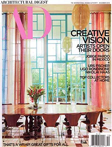 Architectural Digest Magazine Issue : October 2018 + Magazine Cafe Bookmark