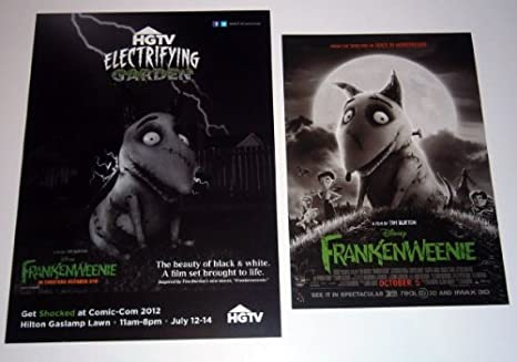 Amazon Com Disney Frankenweenie Mini Promo Poster Flyers Lot Of 2 Different Tim Burton Prints Posters Prints