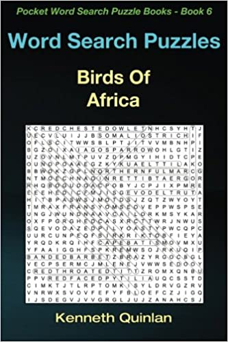 Amazon com: Word Search Puzzles: Birds Of Africa (Pocket