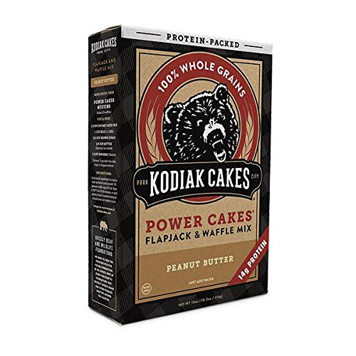 - Kodiak Cakes Power Cakes: Chocolate and Crunchy Peanut Butter Combo Pack, 18 oz. each