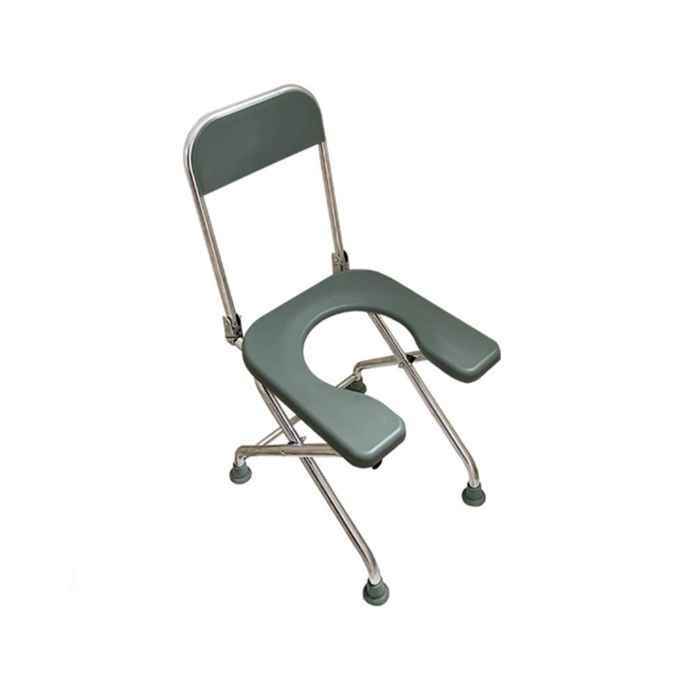 Household Toilet Chair - Stainless Steel Foldable Multi-Functional Toilet Chair, Non-Slip and Durable, Suitable for Pregnant Women The Elderly, Etc by SSZZ