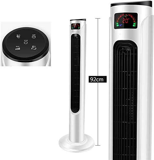 Aire acondicionado portátil FJZ Ventilador eléctrico Hogar Ultra silencioso Ventilador de torre Control remoto Ventilador de piso Cabeza de sacudida Ventilador sin hojas Ventilador vertical pinguino a: Amazon.es: Hogar
